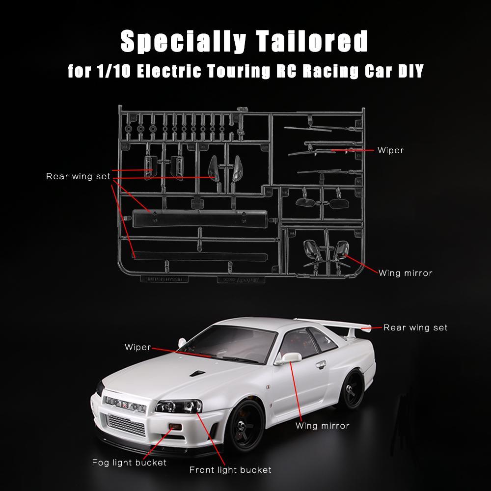 S4G2 R34 Killerbody 48647 Light Bucket Car Decoration Kit for NISSAN SKYLINE