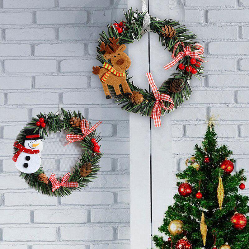 Рождественские венки-украшения из ПВХ. Размер около 15 см в диаметре – купить по низким ценам в интернет-магазине Joom
