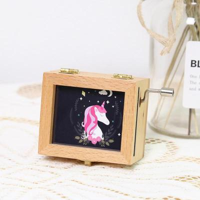 Wooden Pattern Picture Frame Movement Music Box