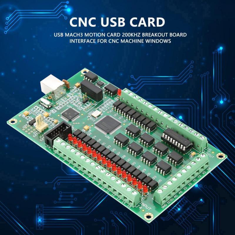 3 Axis USB Mach3 Motion Card 200KHz Board Interface CNC Control Machine Windows