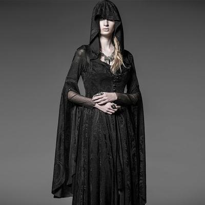 4a2678bc3f Koronkowa sukienka z dzianiny Punk Gothic Women Vintage Sukienka  średniowiecznego kostiumu Halloween Medieval Full Flare Sleeve
