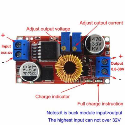 DC Constant Current Buck Step Down Converter LED Driver Battery Charger 5V 12V