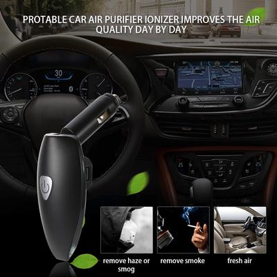 Portable DC 12V Dual USB Ports Flexible 360 Rotatable Freshener Ionizer Car Air Purifier