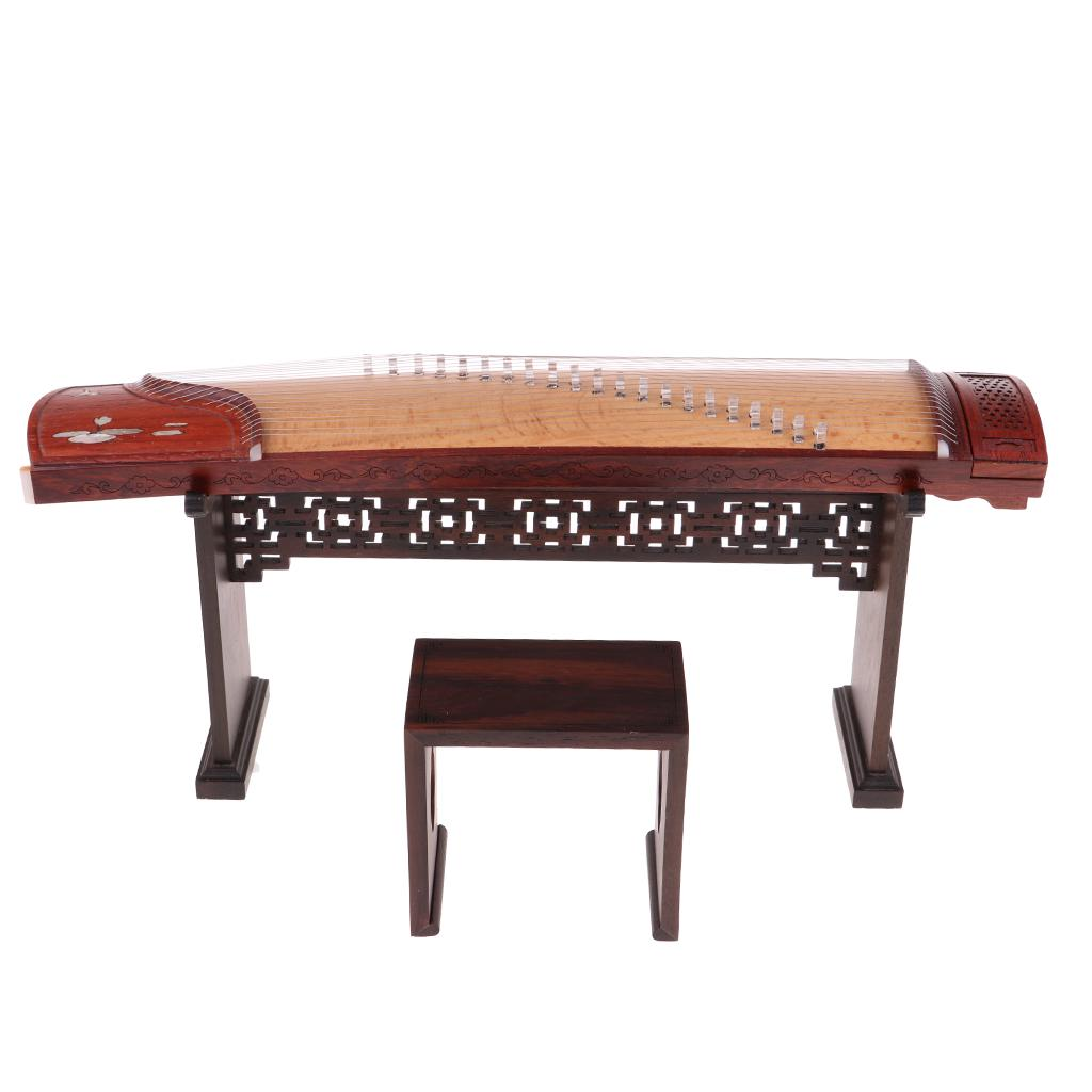 1//6 Wooden Chinese Guzheng Musical Model Action Figure Dollhouse Miniature
