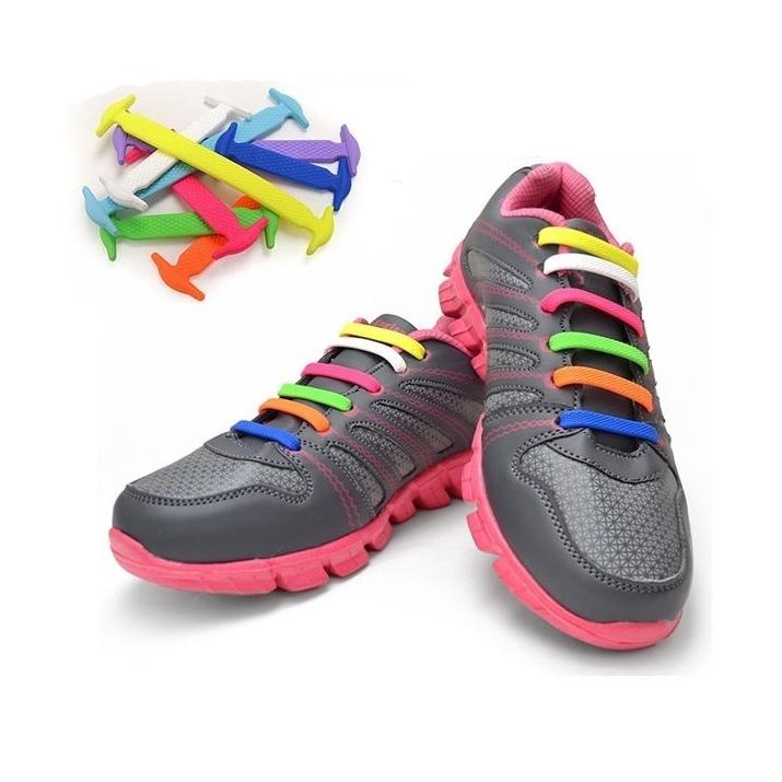 硅胶鞋带百搭男女运动休闲免绑鞋带弹力鞋带懒人鞋带