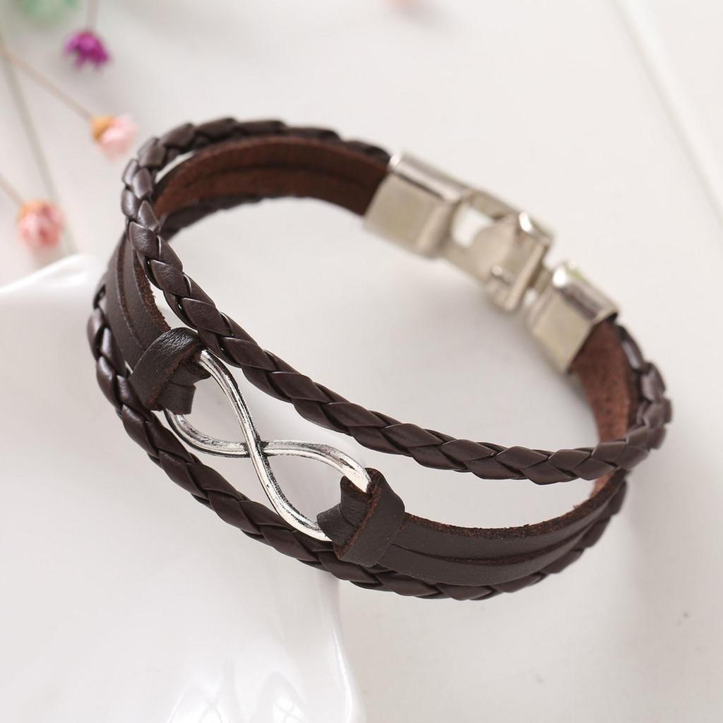 a3795b425a61 Moda joyas cinc aleación infinito símbolo pulseras brazaletes ...