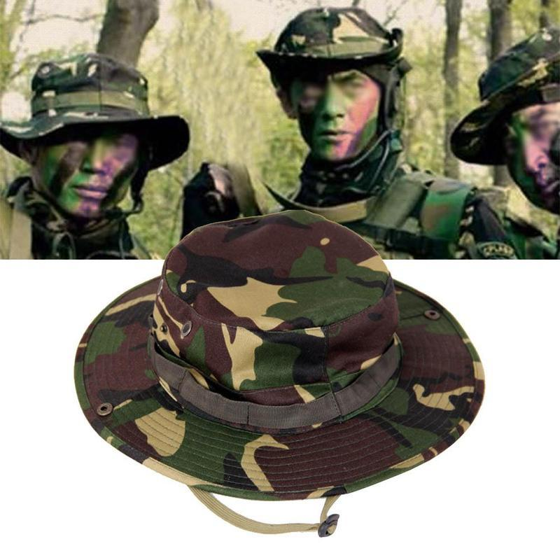 4ba313f02ab Outdoor Sports Fishing Hiking Boonie Hat Hat Wide Brim Camouflage ...