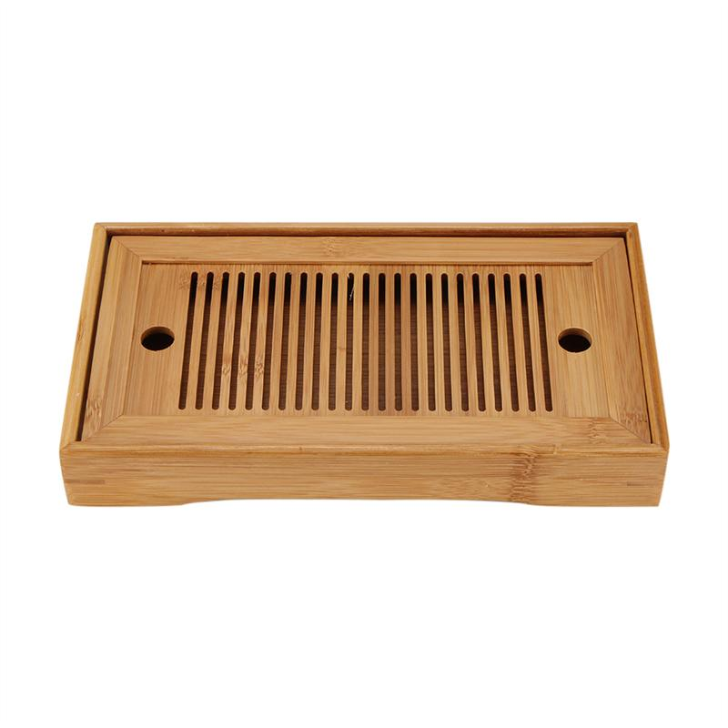 Solid Wood Reservoir /& Drainage Type Kung Fu GongFu Tea Table Serving Tray L1...