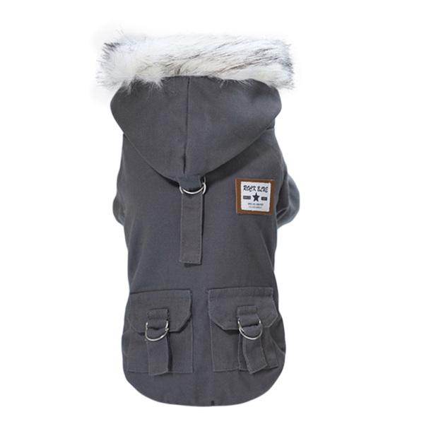 Inverno quente cachorro macacão casaco impermeável animal de