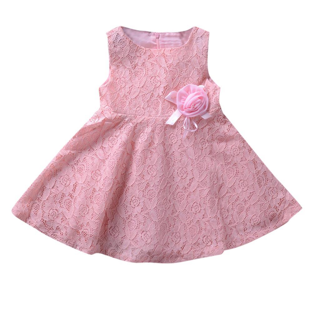4f551beab Los niños niñas de encaje sin mangas flores princesa vestido de los cabritos  - comprar a precios bajos en la tienda en línea Joom