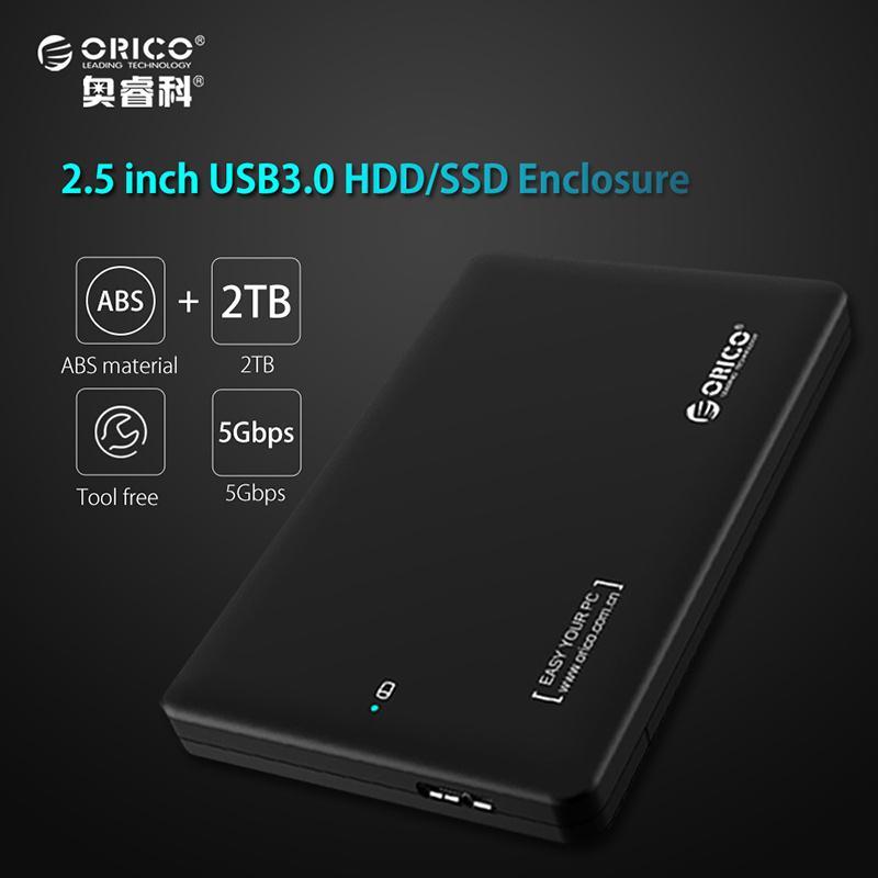 "ORICO 2.5/"" USB 3.0 Hard Drive 2599US3 HDD Enclosure SATA SSD Station External"