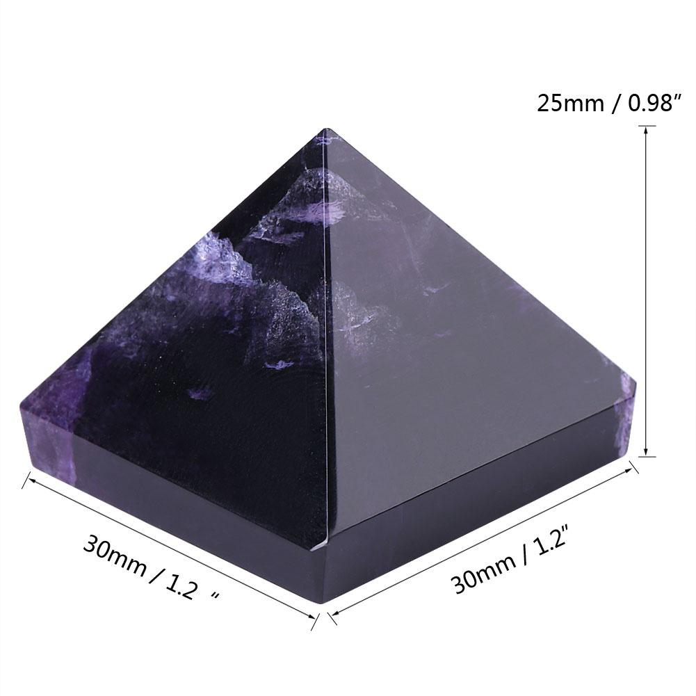 Amethyst  Pyramid Egyptian Clear Stone Home Decoration Healing Stone Gift