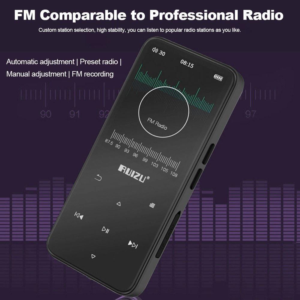 "RUIZU 2.4/""TFT 8GB Bluetooth MP3 MP4 Music Video Player FM Radio Touchbuttons OTG"