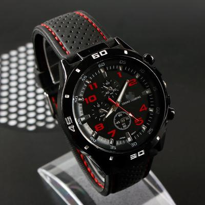 Fashion Military Casual Army Round Dial No Inside Silicone Men Sports Racing Quartz Watch
