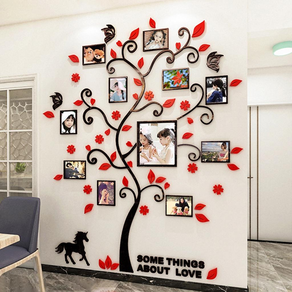 3D Acrylic Wall Stickers Wall Decals Photo Frame Tree Living Room Home  Office Decorative -buy at a low prices on Joom e-commerce platform