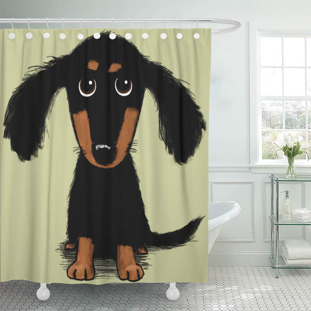 Wiener Long Haired Dachshund Dog Weiner Funny Cute Dachsund Shower Curtain 60x72inch 150x180cm Buy At A Low Prices On Joom E Commerce Platform