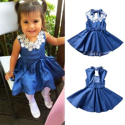 Toddler Baby Kids Girls Off-Shoulder Cute Ruffle Bow Romper Jumpsuit Outfits