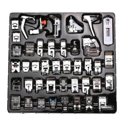 32/42 PCS Sewing Machine Presser Foot Press For Brother Singer Kit Braiding Blind Stitch OverLock Zipper Ruler Parts