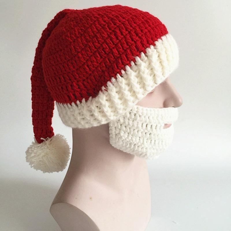 Barba de punto hecho a mano sombrero bigote bicicleta máscara de los ...