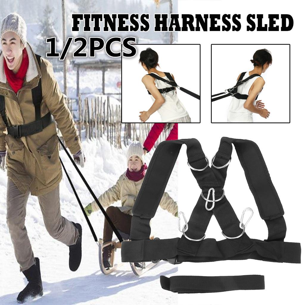 Sled Harness Strength Speed Training Strap Workout Pull Band Belt Fitness Yoga