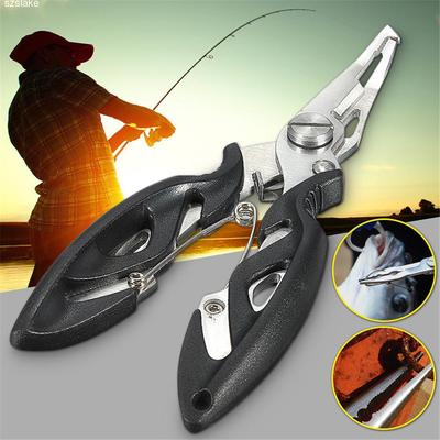 Multi-functional Stainless Steel Fishing Scissors Pliers Line Cutter Lure Bait