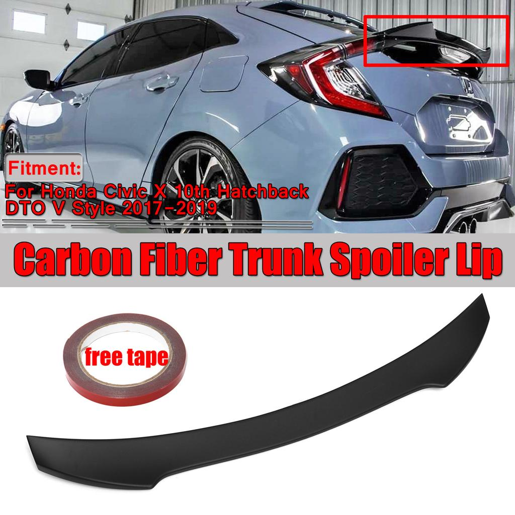 Rear Trunk Spoiler High Kick Wing Carbon Fiber For Infiniti Q60 M4 Style 16-19