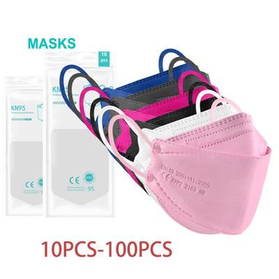 KF94 Face Mask 10pcs-100pcs Mask, 5-Layer Breathable Cup Dust Mask