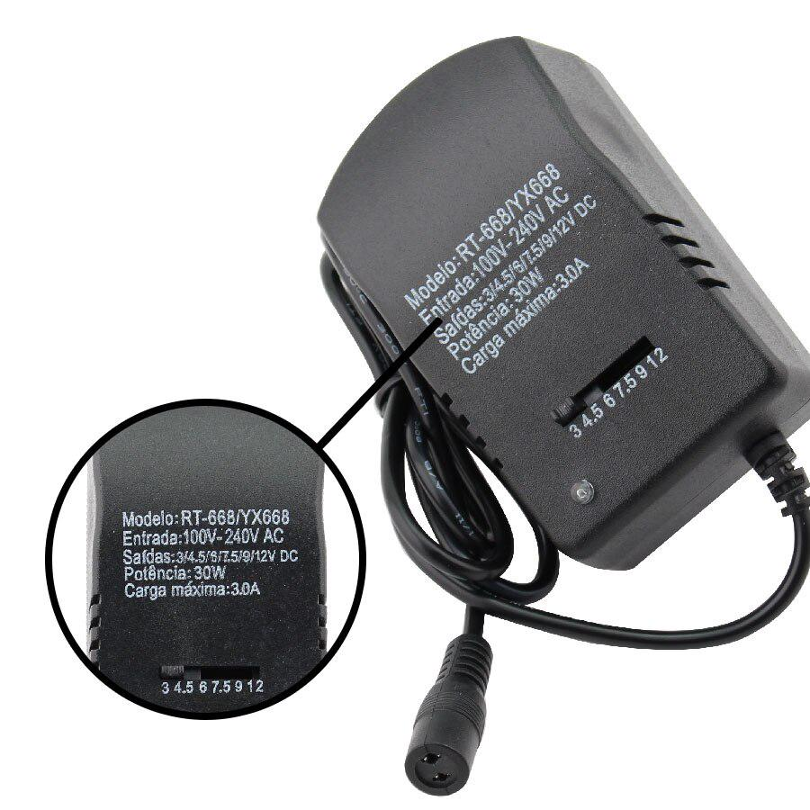 8 in 1 Universal Power Supply Adapter Charger Plug AC//DC 3V to 12V Adjustable