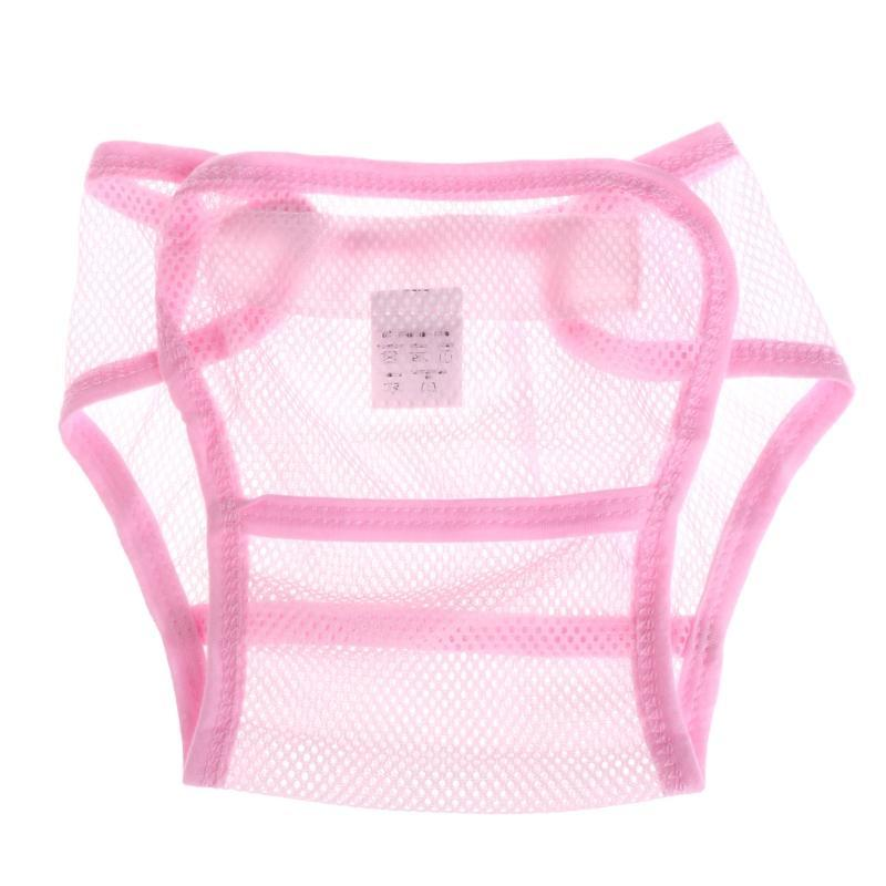 Baby Soft Washable Mesh Diaper Breathable Reusable Adjustable Diaper Nappy Cover