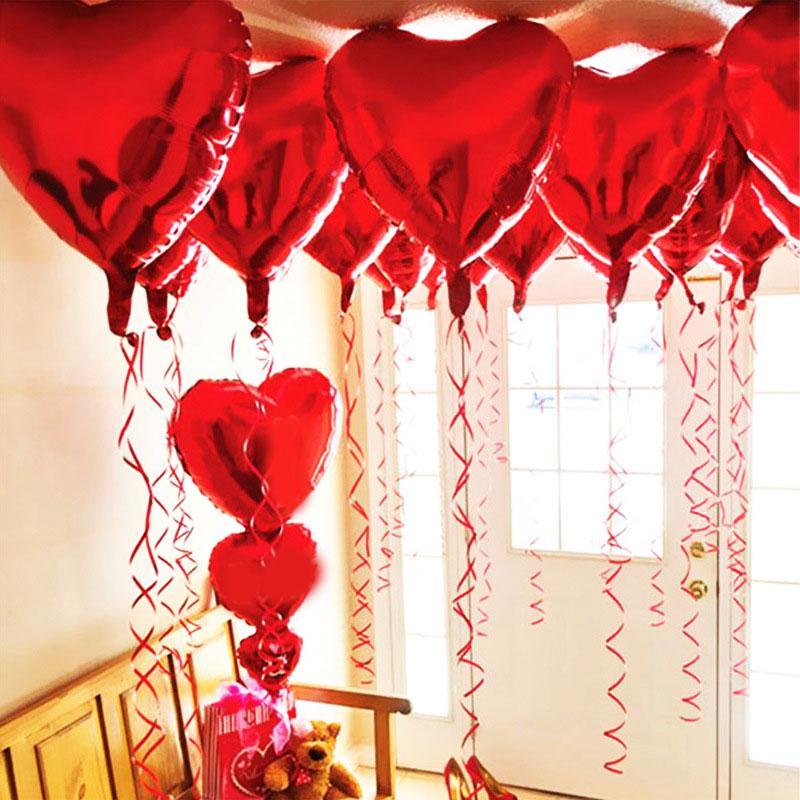 "18/"" Heart Star Shape Float Helium Foil Balloons For Party Birthday Wedding Xmas"