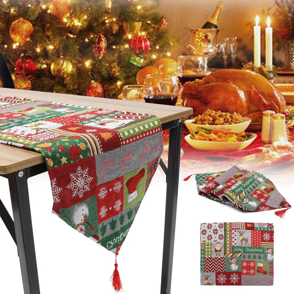 Мода нового Рождество таблицу Runner Placemat партии дома стол Декор скатерть Обложка – купить по низким ценам в интернет-магазине Joom