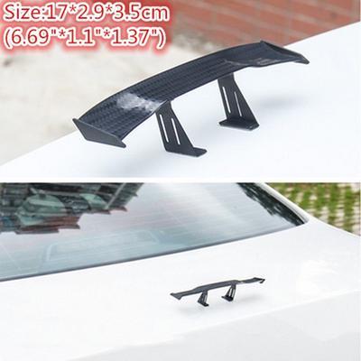 1pc 6.7/'/' Plastic Carbon Fiber Mini Auto Car Wing Tail Spoiler GT Fly Decoration