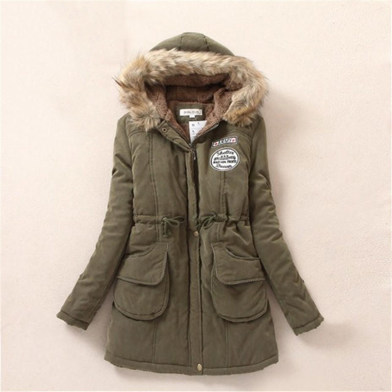 冬季新款韩版毛领连帽棉袄羊羔绒中长款女式棉衣大码休闲修身棉衣