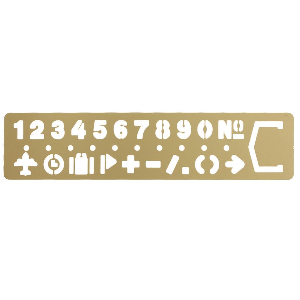 Messing-Nummern Zeichnung Vorlage Lineal Schablone Tool Briefpapier ...