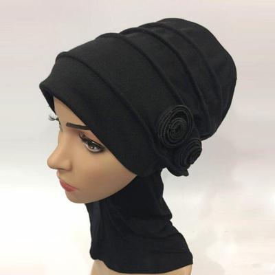 69def318a81 Fashion Flower Muslim Caps Hijab Arab Shawls Headwear Islamic Hats Scarf