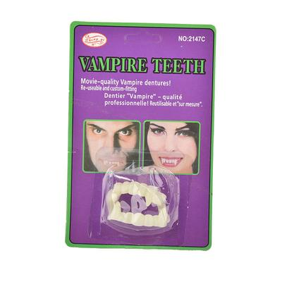 1pc funny scary halloween party prop plastic luminous vampire teeth joke toy