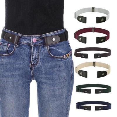 No Buckle Stretch Belts for Men and Women Invisible No Show Adjustable Belts for Jeans Pants
