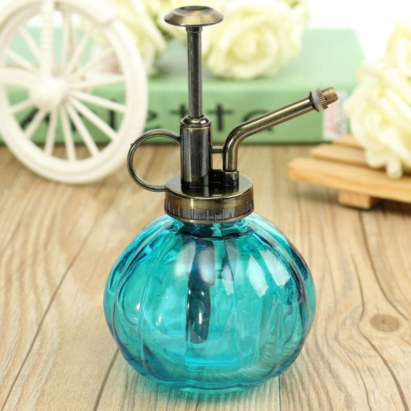 Antique Glass Plant Flower Watering Pot Spray Bottle Garden Hairdressing Sprayer