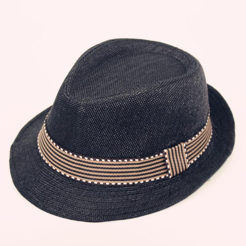 Boys Girls Baby Child Hat Rolled Brim Trilby Fedora Hat Pinch Crown Jazz Cap