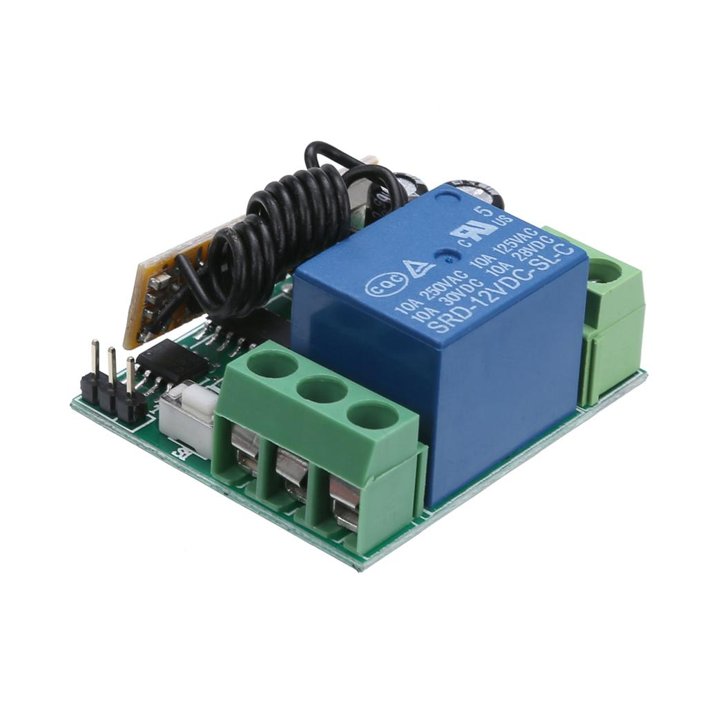 Receiver DC12V Relay Wireless Remote Control ON//OFF Switch Transceiver W