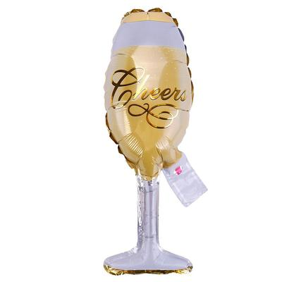Small Champagne Bottle Glass Foil Balloons Birthday And Wedding Party