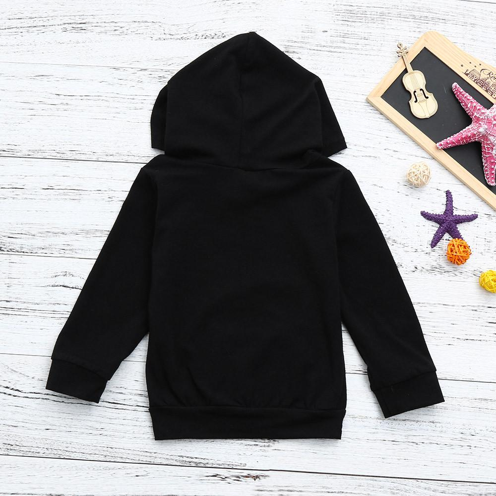 Zerototens Tops for 3M-4Y Toddler Kids Baby Boys Hooded Sweatshirts Infant Letter Blouse Hoodies Pullover