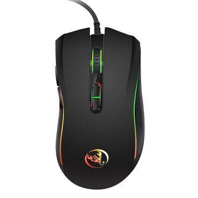 BM007 1600DPI ABS USB Wired Optical Gaming Mouse Game Mice for Computer PC Black