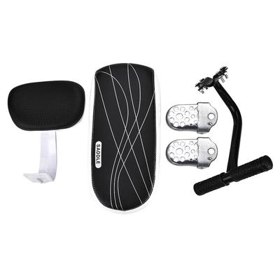 CenterZ Bike Rear Seat Cushion with Safety Backrest Handlebar Bell Foldable Hidden Bicycle Footrests Universal Cycling Kit + Installing Repairing Tools Set Bonus Backseat Armrest Handrail