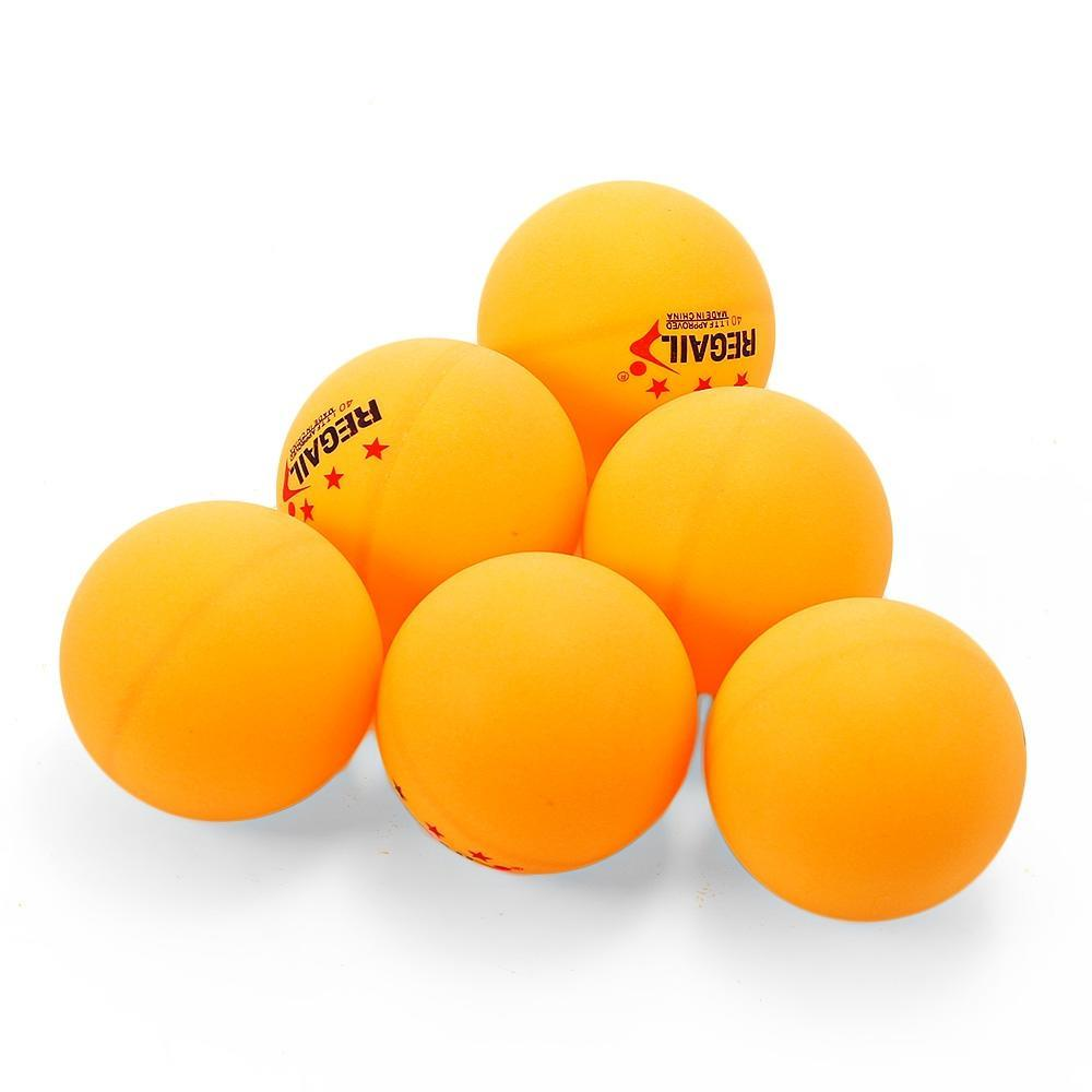 REGAIL 60pcs Stand 3-star 40mm Practice Table Tennis Ping Pong Ball