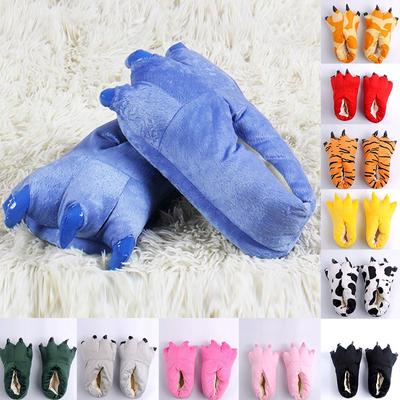 Adult Kid Slippers Cute Animal Claw Paw Shoes Winter Warmer Shoes Home Slippers