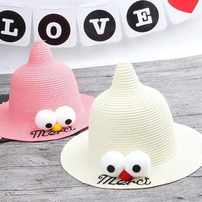 8ddc46a779c4a Ojos grandes pescador gorras sombreros de paja niñas de niños chicos 1 PC  lindo sol sombreros