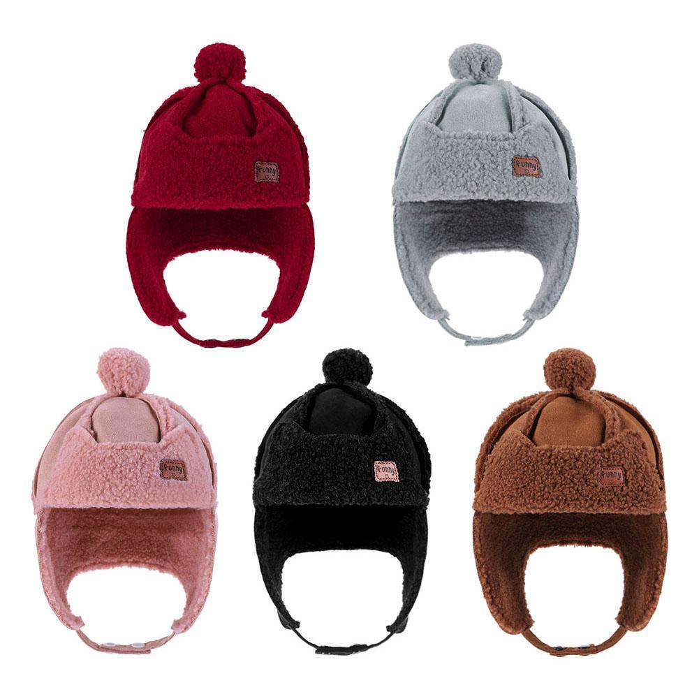 Infant Baby Boy Girl Lei Feng Hat Kids Warm Adjustable Ear Cap Winter Earmuffs
