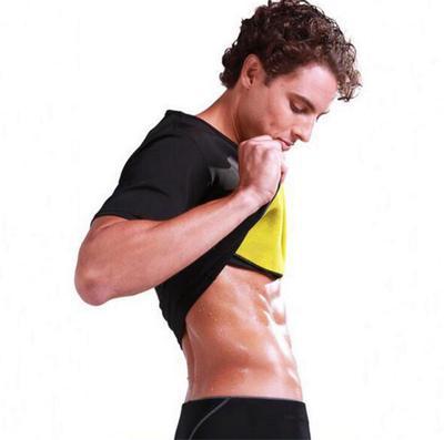 737eaab418c9d Men s Thermal Body Shaper Slimming Shirt Hot Shapers Compression Slim Shirt  Neoprene Waist Trainer