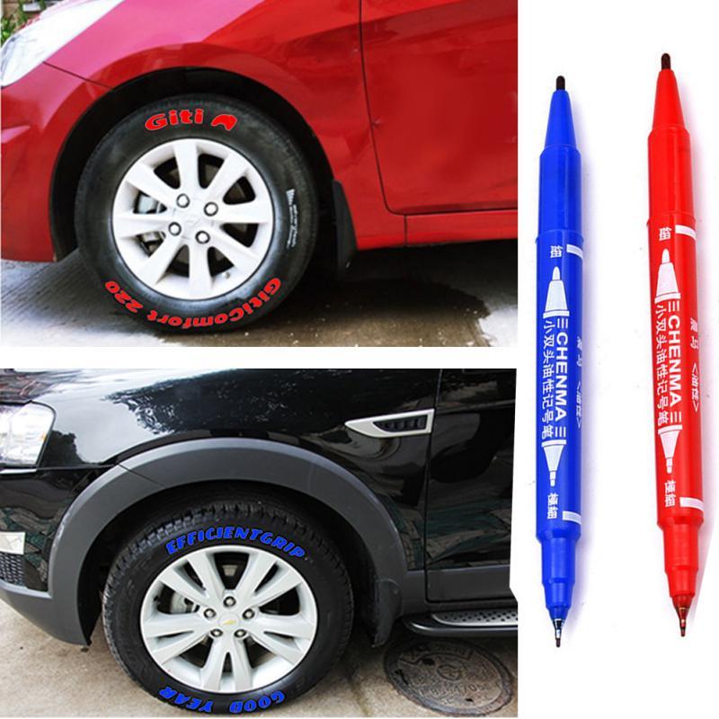 Permanente Impermeable Coche Auto Moto neumáticos de autos Marcador Plumas del neumático